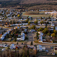 Fox Creek Alberta from above in 2015