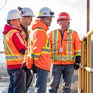 A group of Chevron employees and contractors in Kitimat, BC